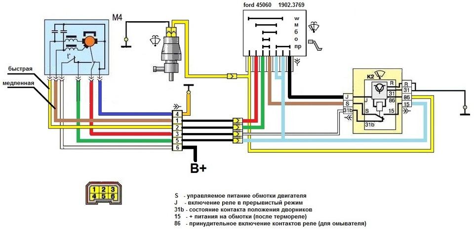 Схема подключения дворников на газель бизнес 194