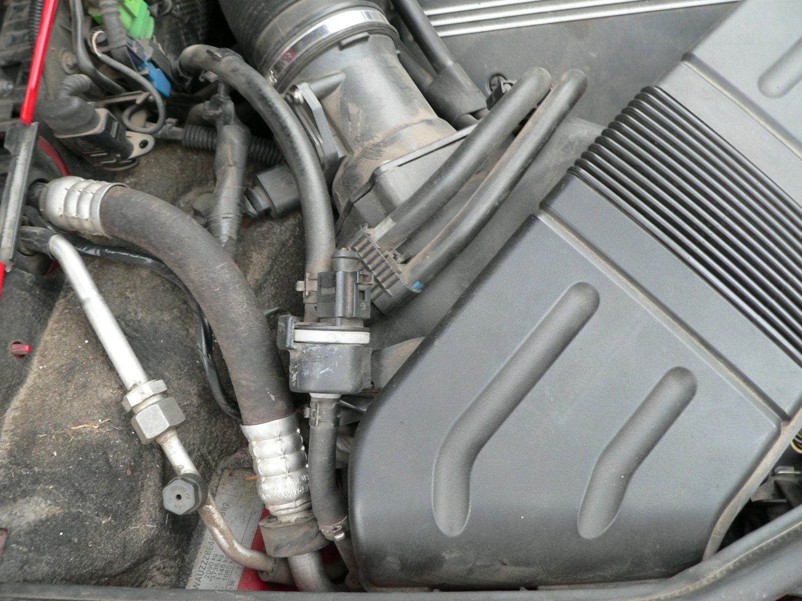 Замена клапана N80 системы Evap бортжурнал Audi A4