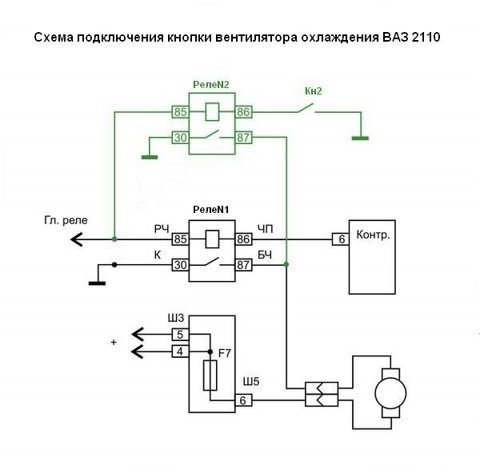 Ваз впрыск ваз салоне ваз 2110 штатная схема включения электродвигателя вентилятора ваз схема включения вентилятора...