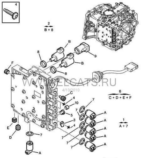 Схема с названиями клапанов(за
