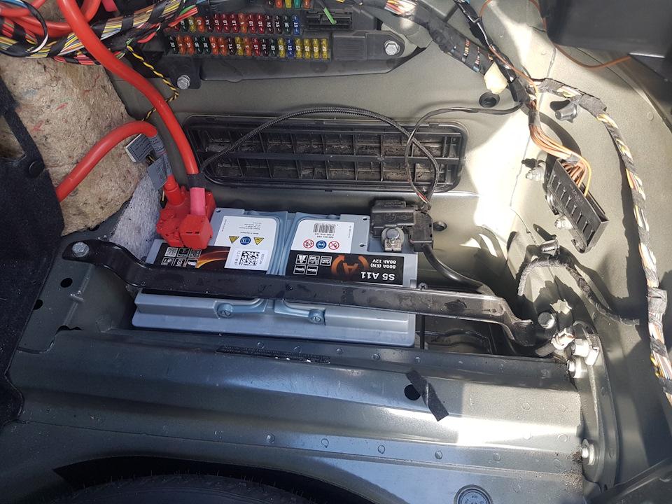 замена аккумулятора бмв е60