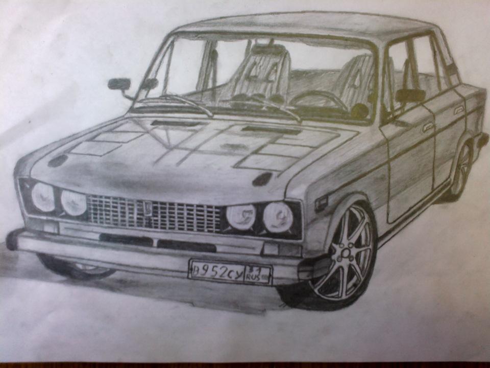 Нарисованные картинки машины ваз