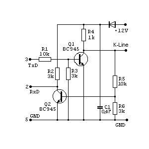 Схема k-line адаптеры