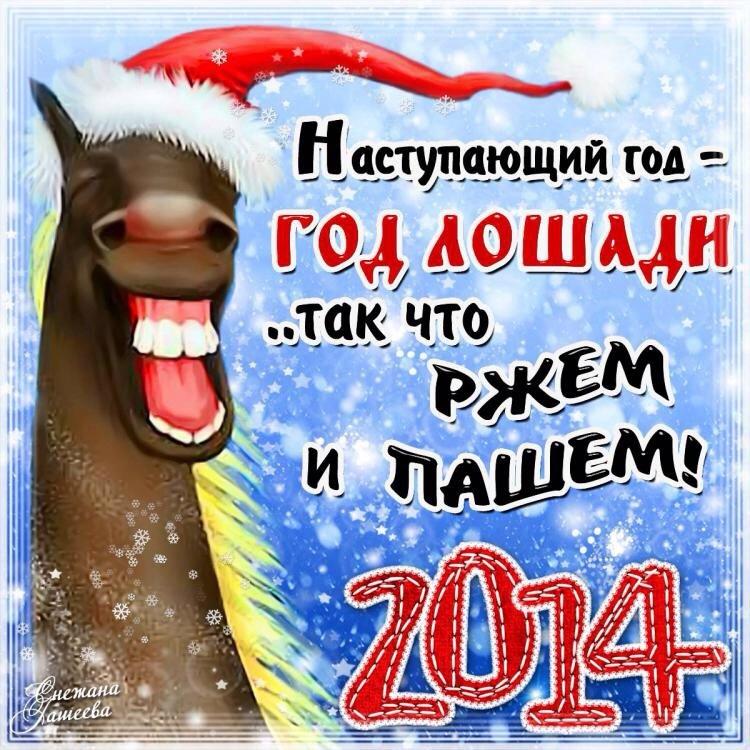 Прикольные картинки с новым годом 2014