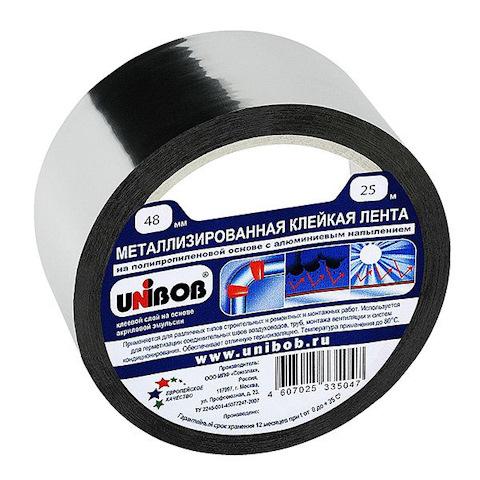 Лента клейкая UNIBOB Металлизировнная 48мм х25м