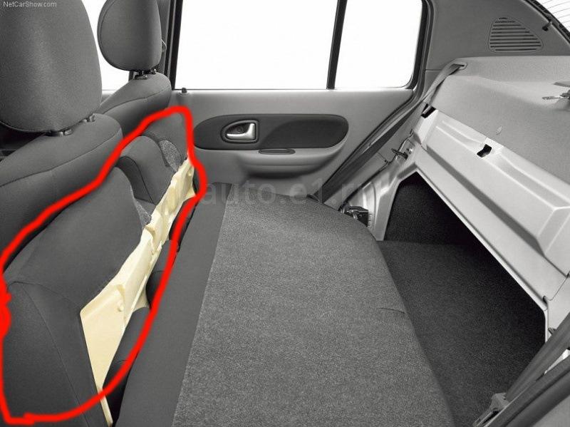 renault symbol new как снять заднее сиденье