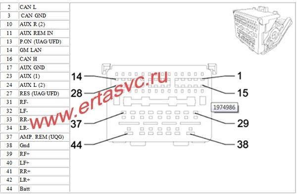 Схема проводов на магнитоле на шевроле круз