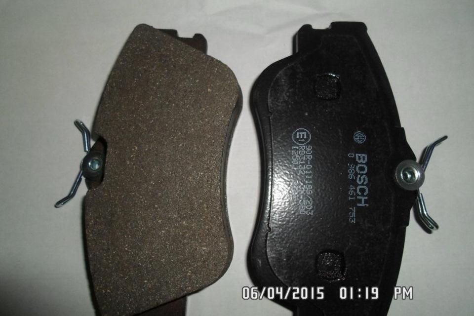 тормозные колодки задние транспортер т4