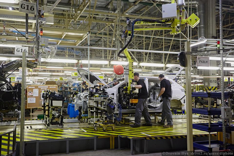 сборка машины на конвейере прогресс