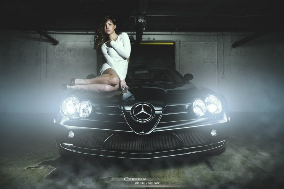 Cool Cars And Girls Nude With Pink Pussy