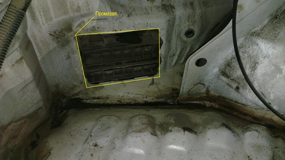 Хонда цивик eg течет вода в багажник