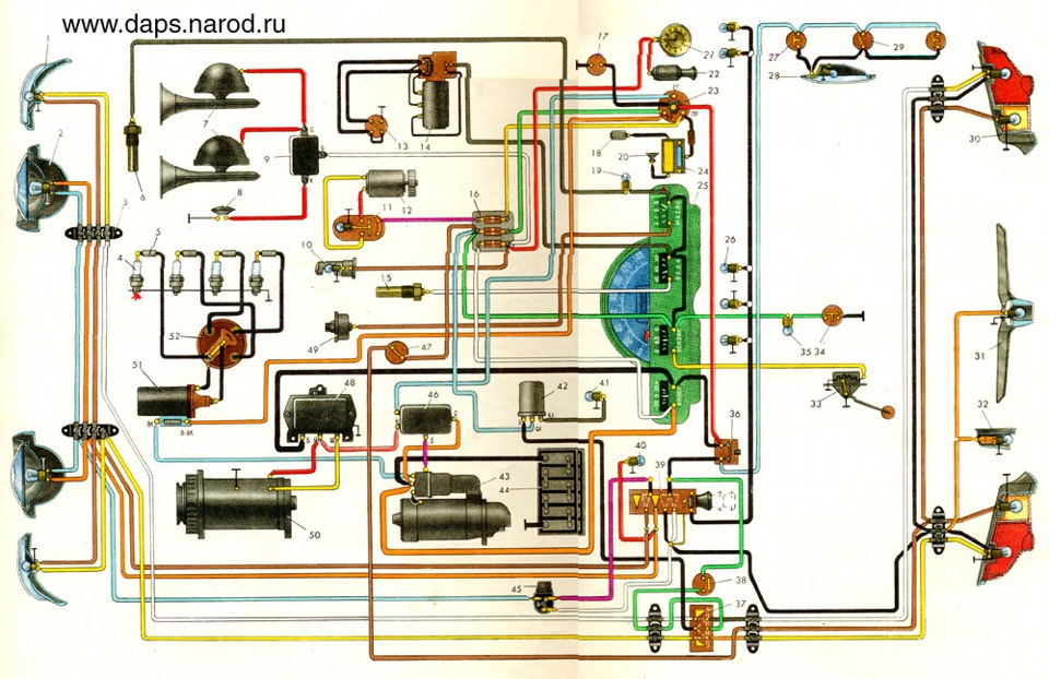 схема ГАЗ-21