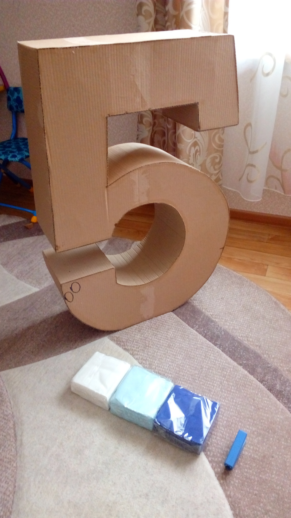 Объемная цифра 1 своими руками размер