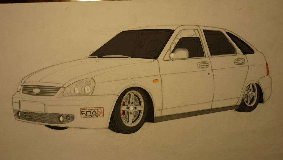 рисунки машины бпан карандашом картинки