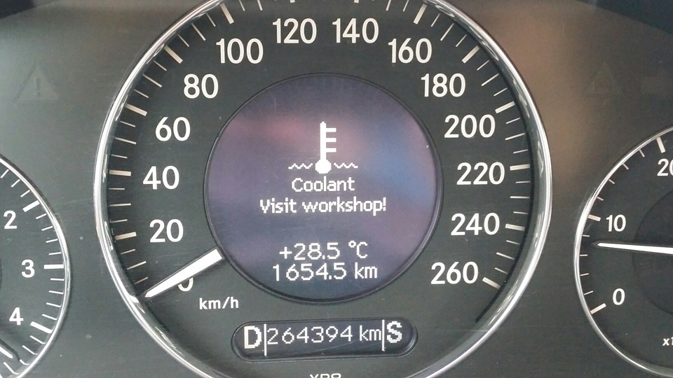 Coolant visit workshop mercedes benz e class for Mercedes benz check coolant level