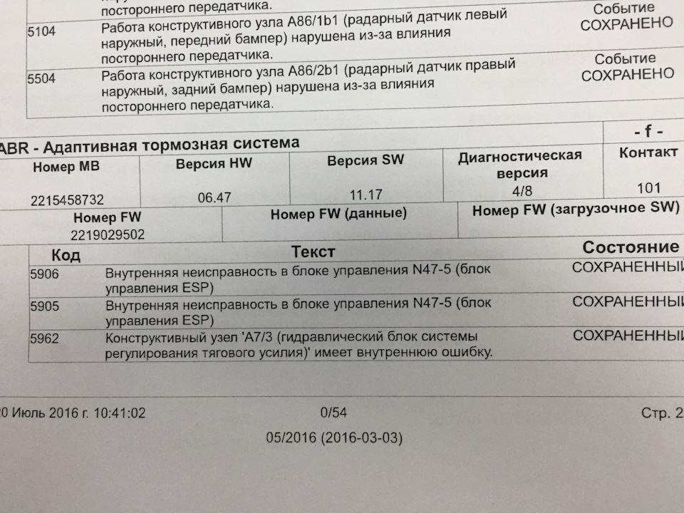 ABS, ESP is currently unavailable  See owners manual