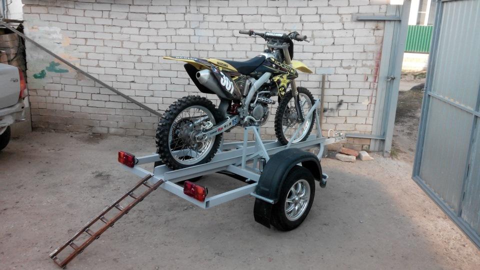 Крепление для мотоцикла в прицеп
