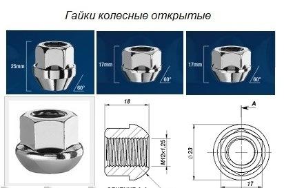 колесные болты для штампованных дисков фольксваген