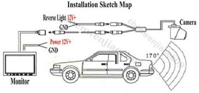 Схема подключения камеры