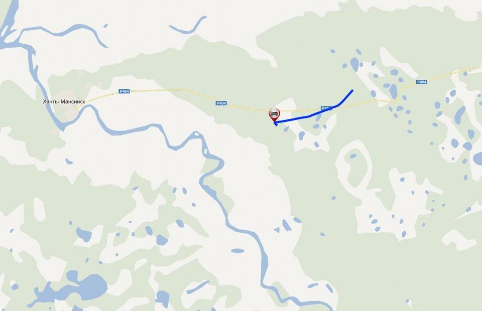 На Ханты-Мансийск дорога прямо