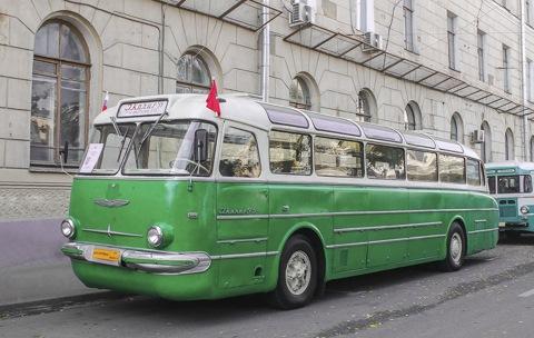 Московский Ikarus 55, фото с парада 2014 года