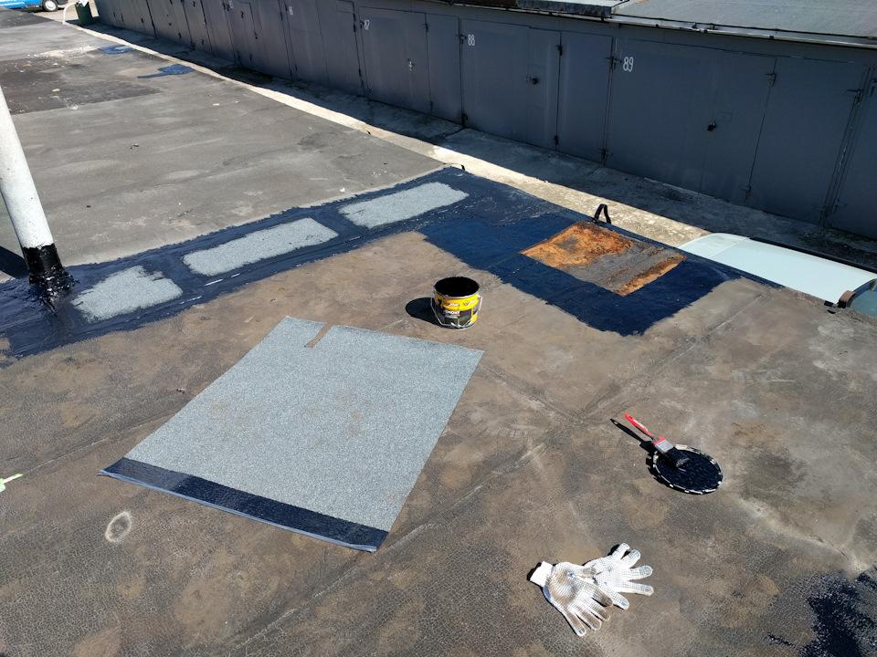 Чем заделать трещины на крыше гаража