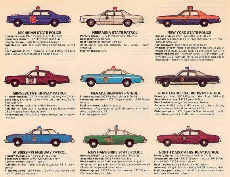 Таблица цветографических схем