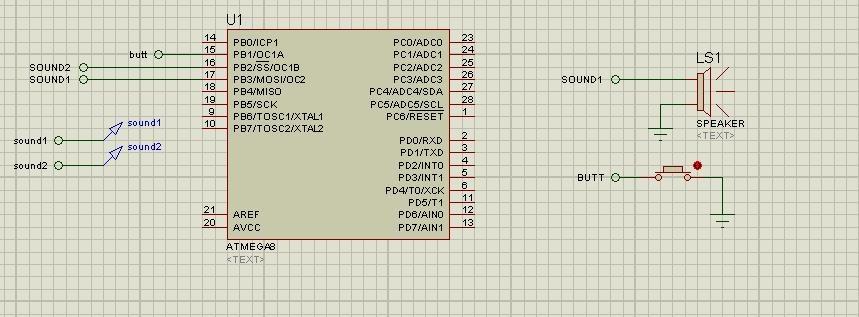 Схема в Протеусе
