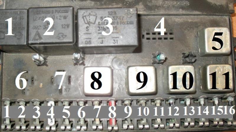 Схема и расположение предохранителей ваз 2108 фото 830