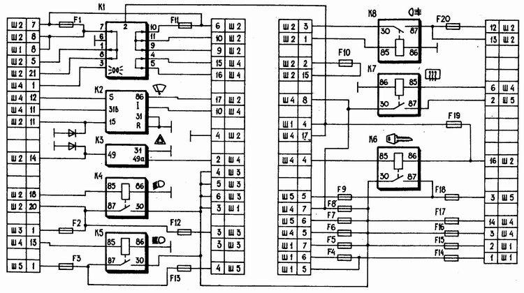 Ваз 2110 птф схема подключения