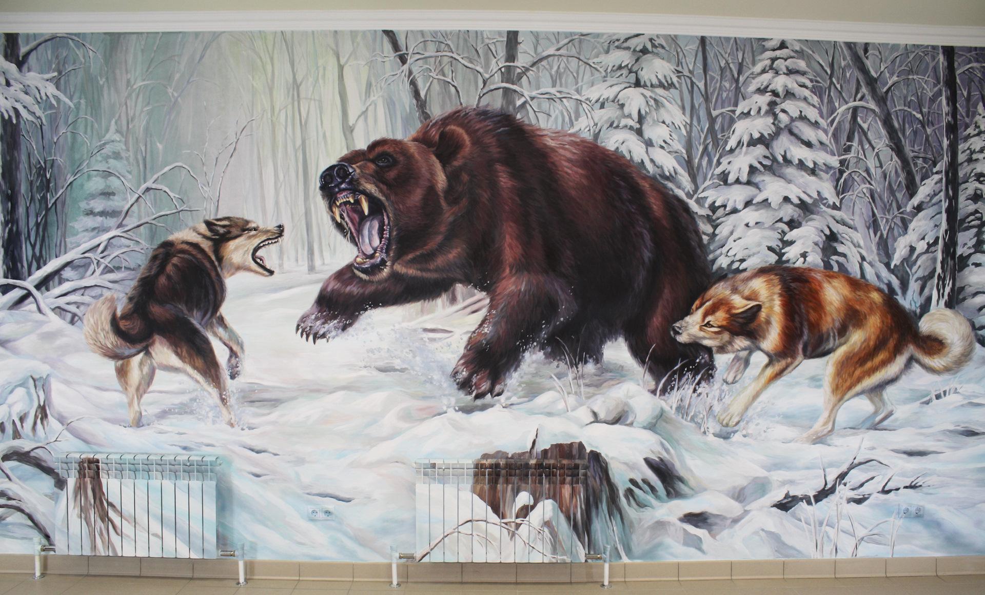 фото картинки охота на медведя сацебели