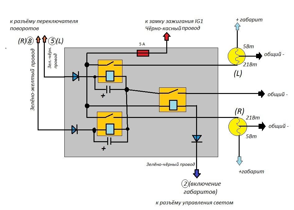 Руководство по изготовлению звукового повторителя поворотов