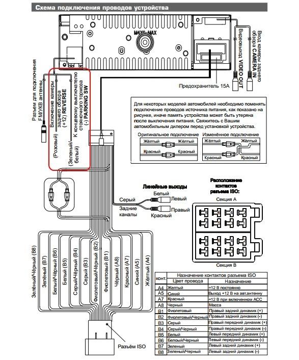 схема подключения автомагнитолы renault samsung cf7bev 4g