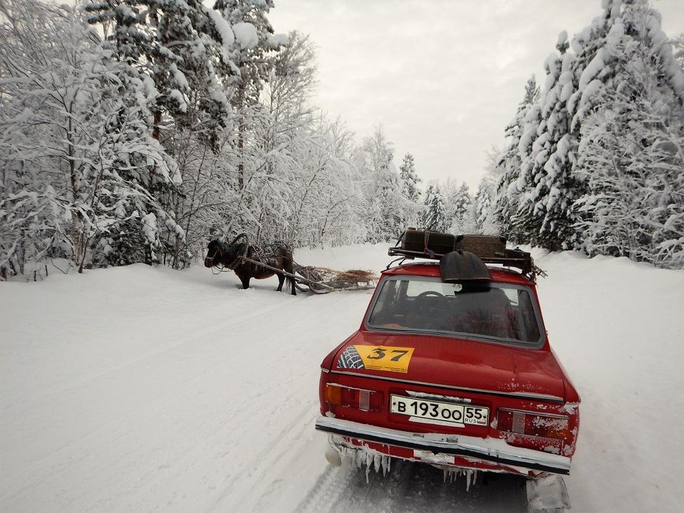 В этих местах местными жителями на зимниках активно используется гужевой транспорт.