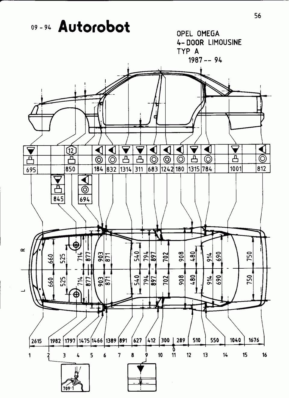 опель омега схема машины