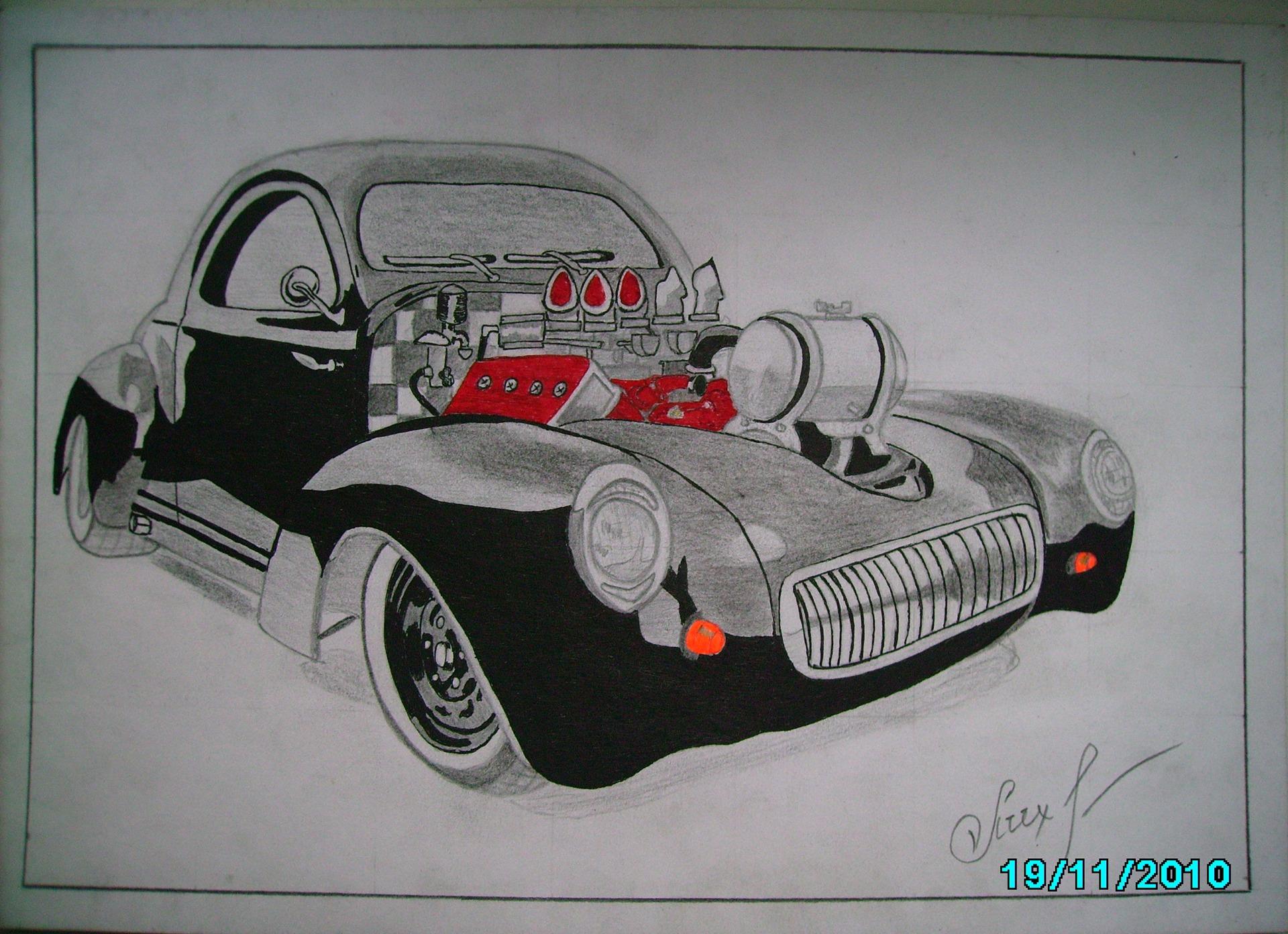 Рисунки тюнингованных машин