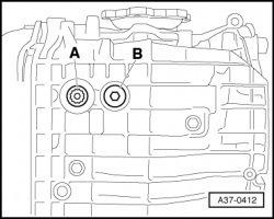 контрольная пробка 5 ступенчатой ркпп audi a4 b6