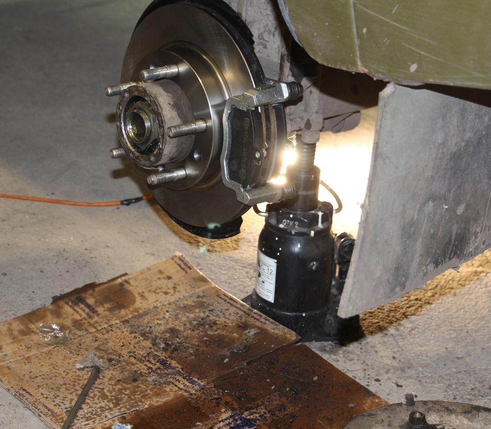 Установка дисковых тормозов на уаз гражданские мосты