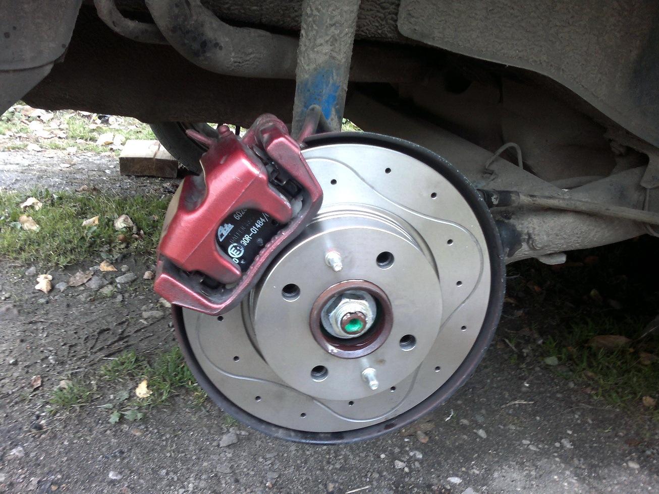 Задние дисковые тормоза на ваз 2190 с ручником своими руками 86