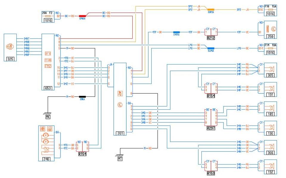 Рис. 1 схема аудиосистемы.