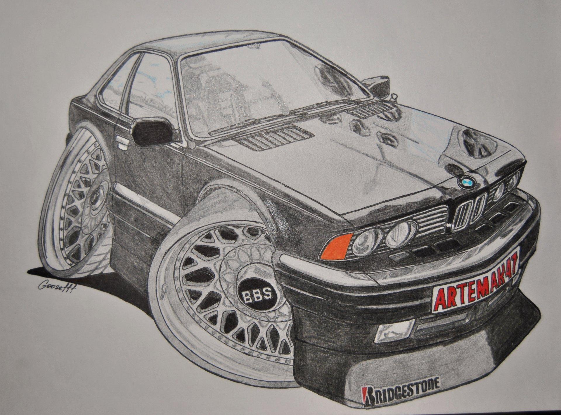 В стиле Cartoon Cars :-) — бортжурнал BMW 6 series e24 шестьчерная 1978 года на DRIVE2