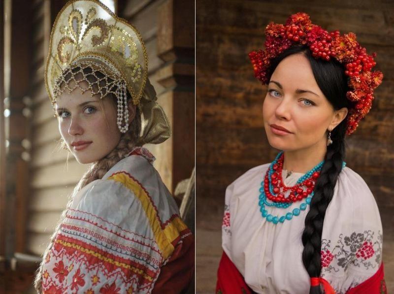 а русский народный наряд