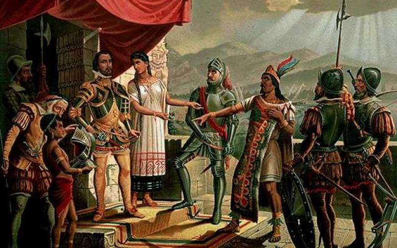 the dominance of the polytheistic religion of the aztecs at the time of the spanish conquest The dominance of the polytheistic religion of the aztecs at the time of the spanish conquest pages 1 aztec polytheism, traditional toltec gods, spanish conquest.