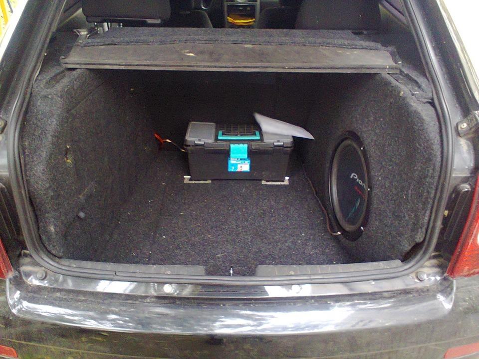 Как сделать из багажника сабвуфер 45