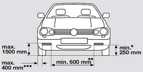 Электрическая схема ходовых огней прицепа.