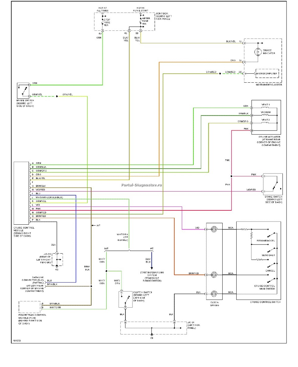 Электрическая схема на мазда 323 bj