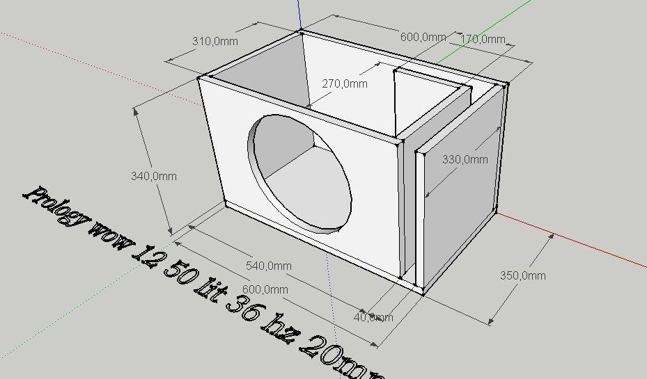 Как сделать короб для сабвуфера 12 дюймов чертежи
