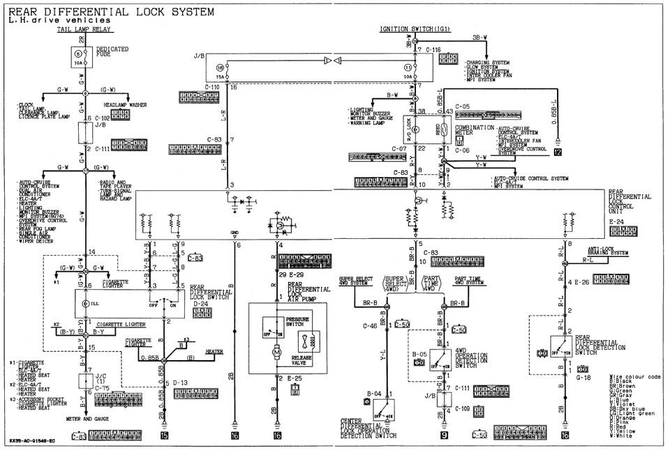 электросхема блокировки
