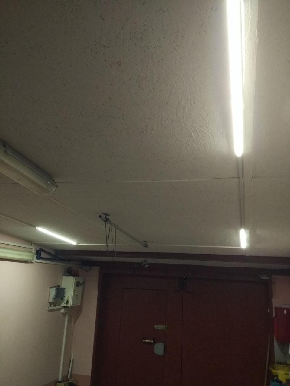 Схема освещения в гараже фото