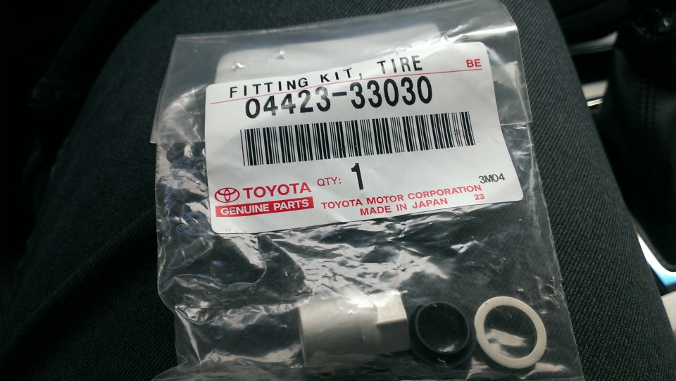привязка датчиков давления колес toyota